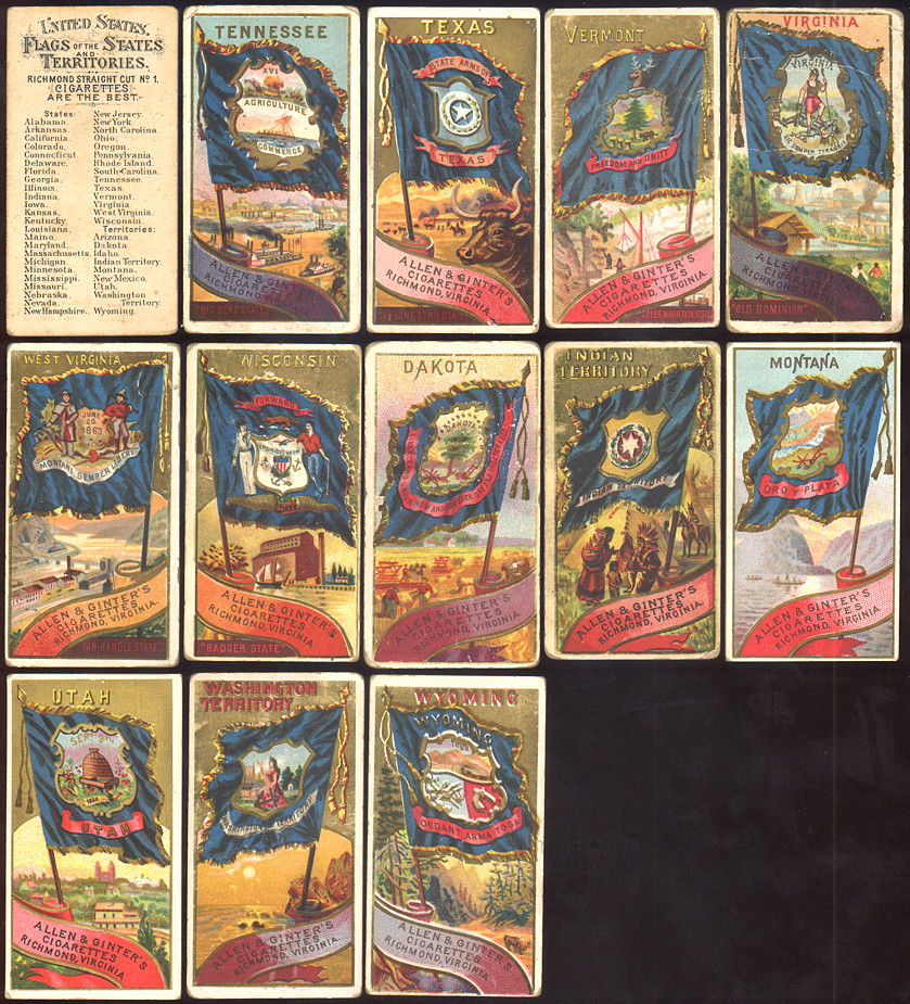 buying old baseball cards and N11 Flags of the States and Territories