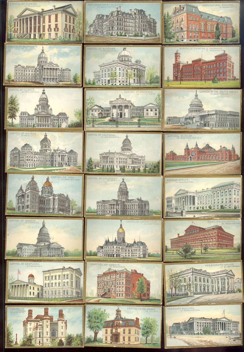 buying old baseball cards and N14 General government and State Capital Buildings of the United States