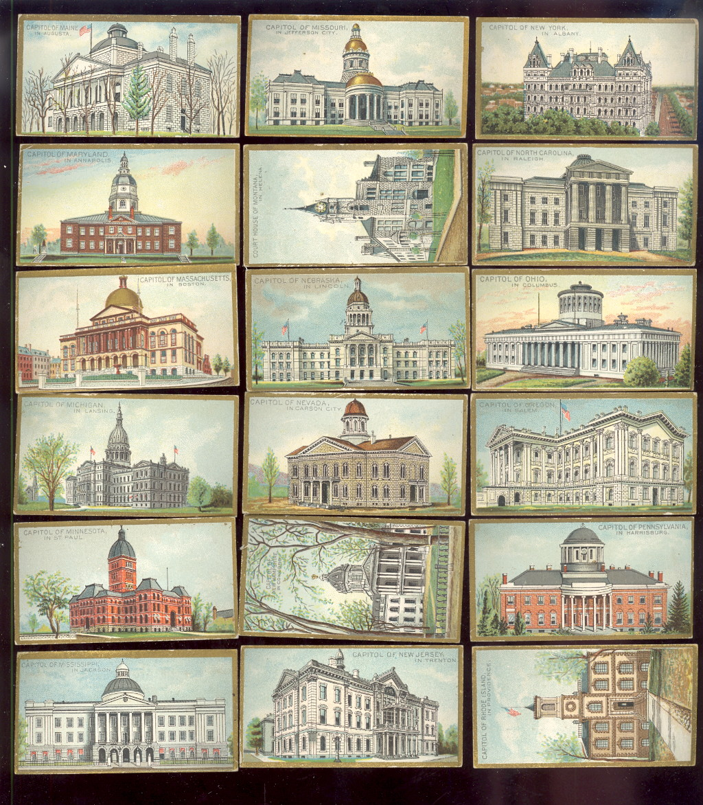 selling old baseball cards and N14 General government and State Capital Buildings of the United States