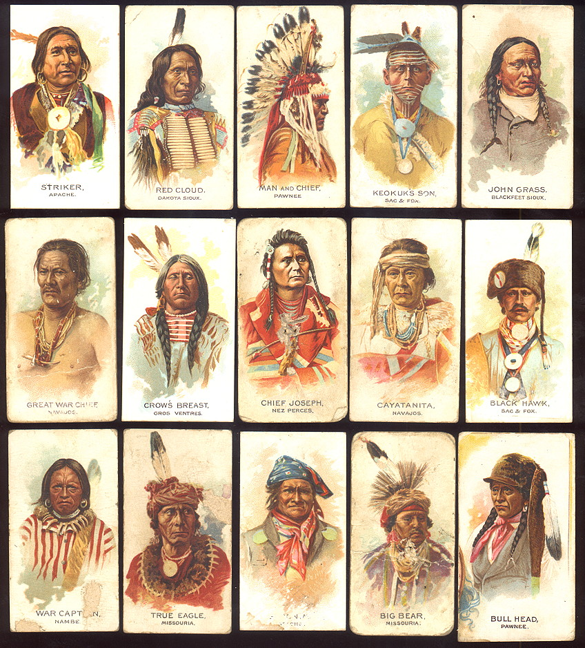buying old baseball cards and N2 American Indian Chiefs