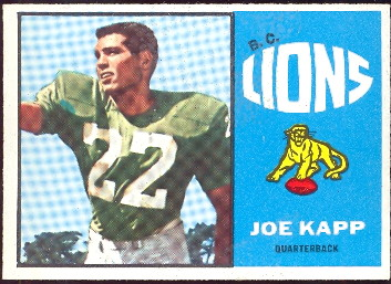 1964 topps cfl football card joe kapp