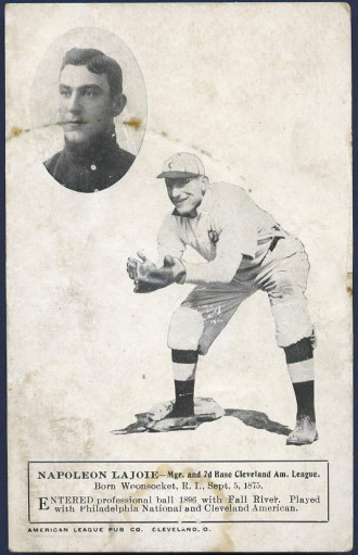1908 American League Pub.Co. Postcards, Nap Lajoie .
