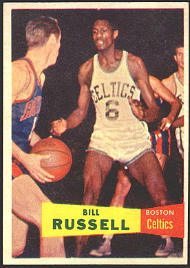 bill russell rookie card 1957 topps 