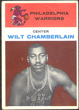 wilt chamberlain 1961 fleer 