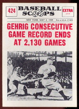1961 Nu Card Baseball Scoops Cards Buy Baseball Cards Buy