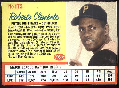 Buy Roberto Clemente Baseball Cards Sell Roberto Clemente