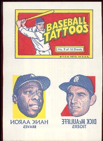 1971 topps tattoo insert issue.