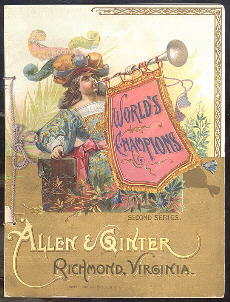 ALLEN & GINTER WORLDS CHAMPIONS (N28) WITH 10 BASEBALL CARDS Issued in 1887