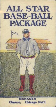 1910 All Star Base-ball package cards .
