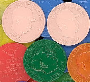 1955, 1959, 1960 Armour coins baseball card.