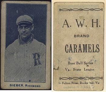 1910 A.W.H./A.W.A. Caramels baseball card
