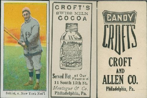 1909 E92 Croft's baseball card