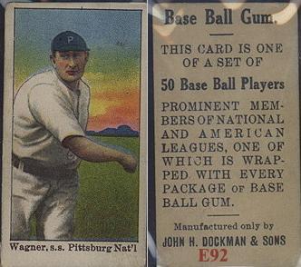 1909 E92 Dockman baseball card