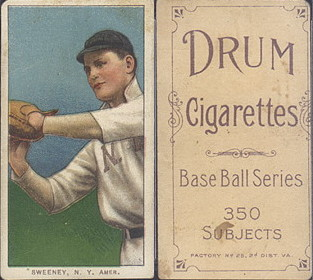 1909-1911 T206 Drum cigarettes baseball card