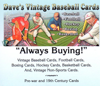 Daves Vintage Baseball Cards Buy Baseball Cards Buy Vintage