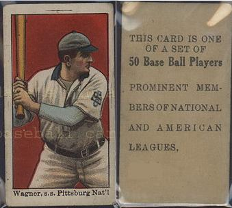 1909 E101 Anonymous set of 50 baseball card