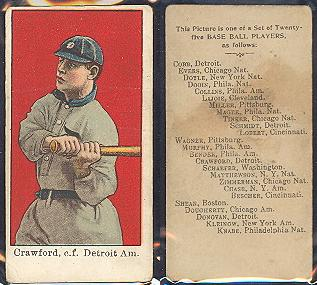 1909 E102 Anonymous set of 25 baseball card