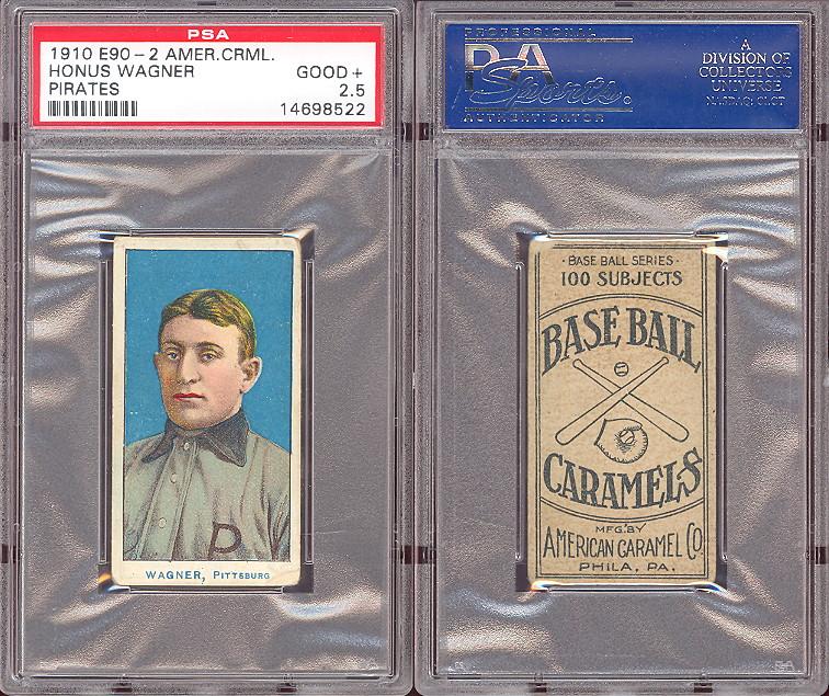Honus Wagner Tobacco Cards And Honus Wanger Caramel Baseball Cards