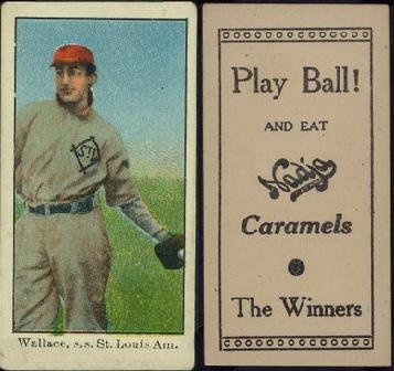 1909-1910 E92 and E104 Nadja Caramel baseball card