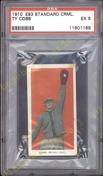 E93 Standard Caramel baseball card from 1910