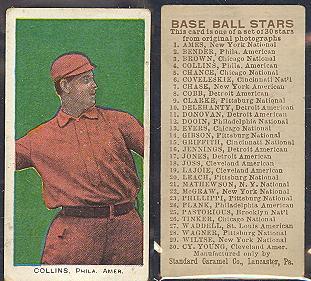 1910 E93 Standard Caramel baseball card
