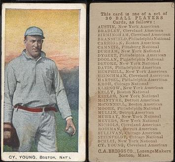 1909-1910 E97 C.A. Briggs Co. baseball card