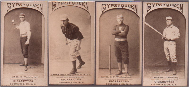 19th century baseball cards, gypsy queen baseball cards