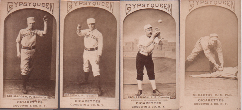 19th century old judge gypsy queen baseball cards