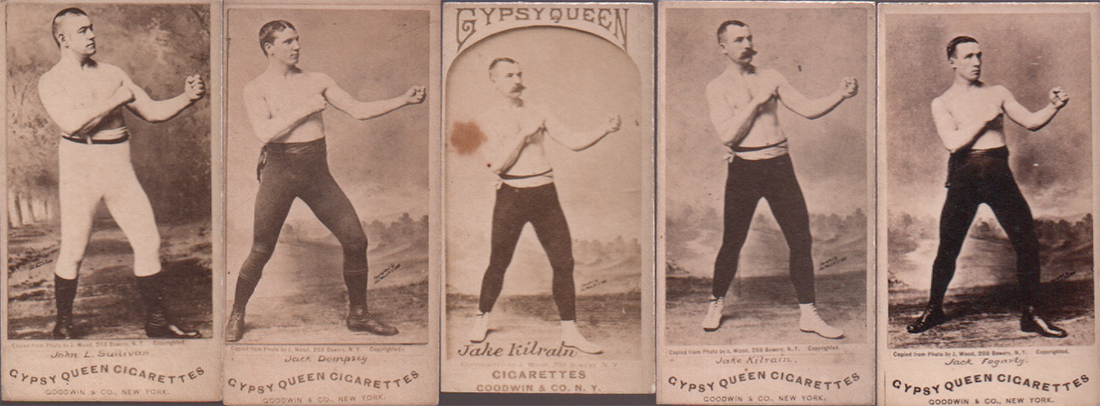 19th century gypsy queen boxing cards