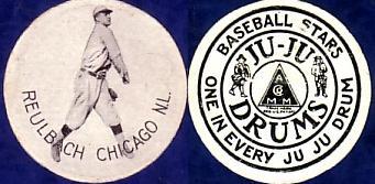 1910 E286 Ju-Ju Drums Candy baseball card Ed Reulbach.