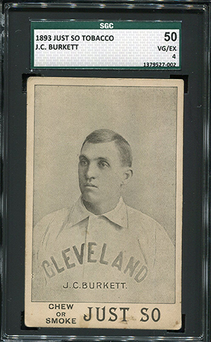 1893 Just So Tobacco Baseball cards