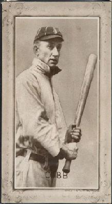 1907-1909 Novelty Cutlery PC805 Ty Cobb baseball card.