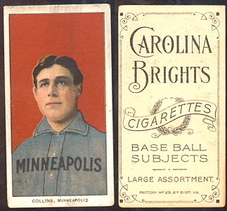 1909-1911 T206 Carolina Brights  baseball card Collins.