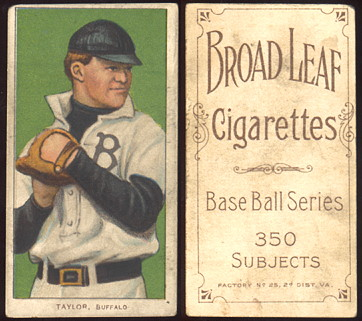 1909-1911 T206 Broadleaf Cigarettes baseball card Dummy Taylor.