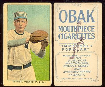 1909-1911 Obak Cigarettes baseball card