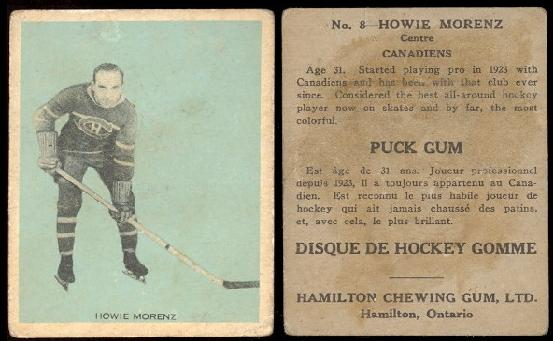 1933-1934 Hamilton Gum (V288) hockey card
