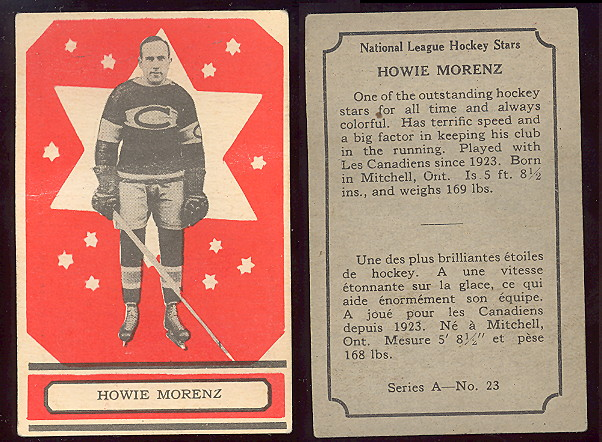 1933-1934 O-Pee-Chee hockey card