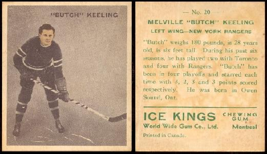 1933-1934 Ice Kings (V357) hockey card