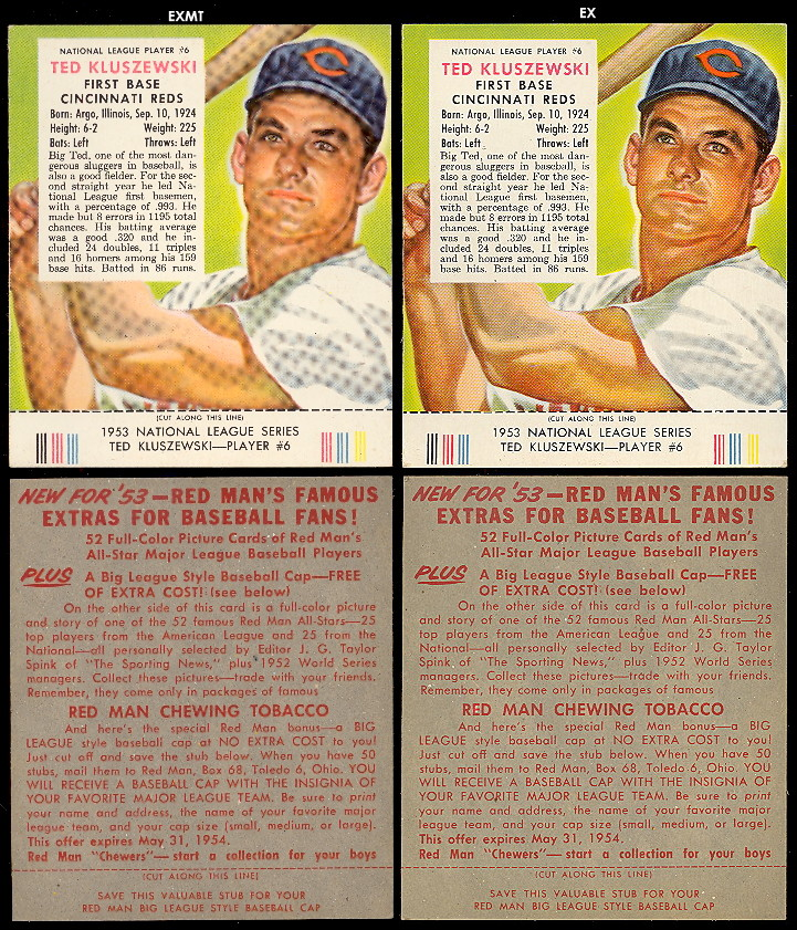 1952-1955 Red Man Tobacco Cards.