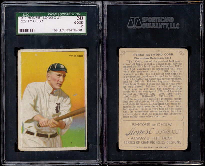 Ty Cobb Baseball Card Page Buy Baseball Cards Buy Vintage