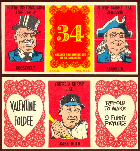 1963 Topps Valentine Foldees R708 9a Buy Non Sports Cards Buy