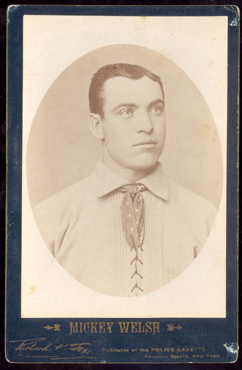 1889 Police Gazette Cabinet mickey welsh baseball card.